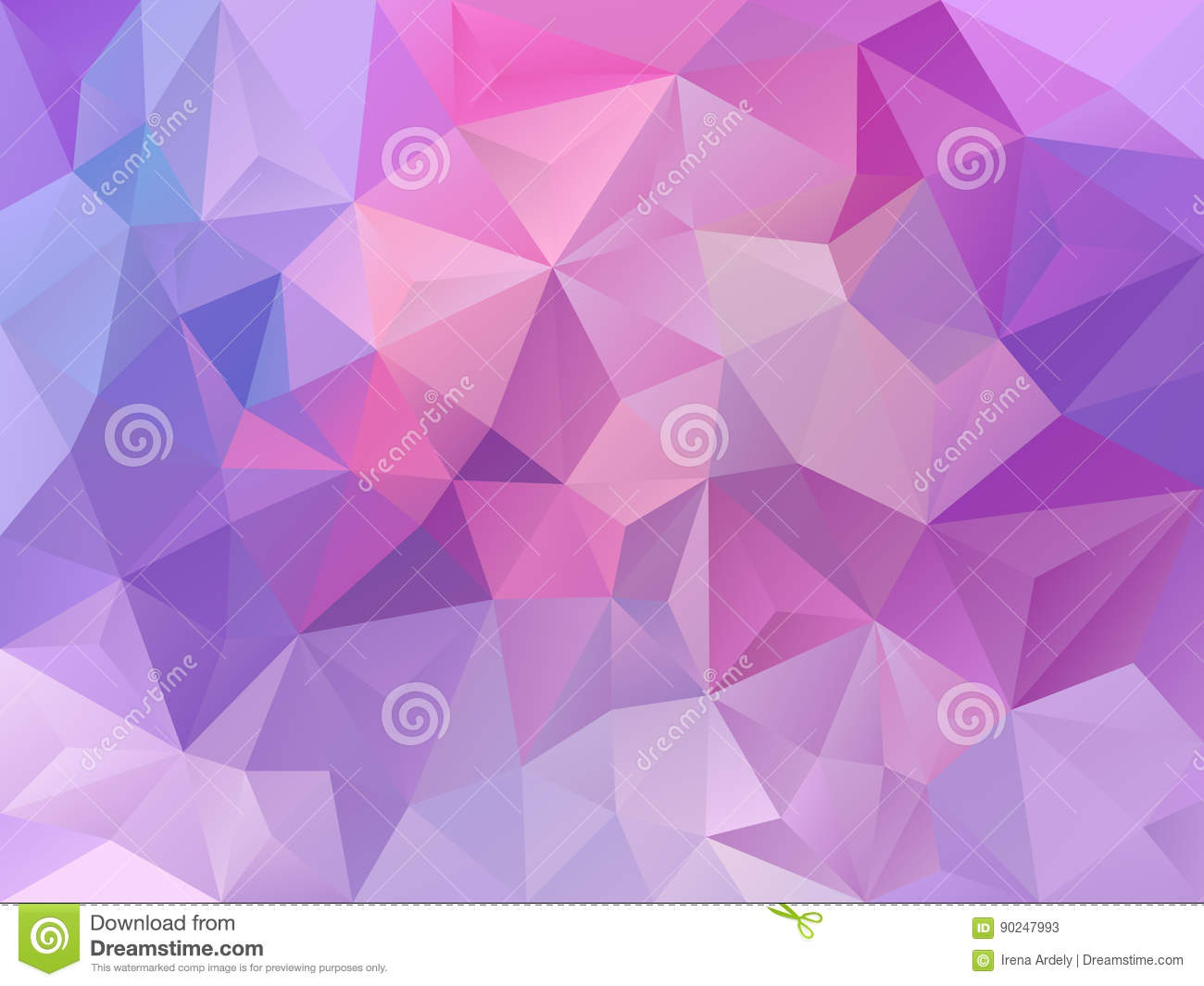 Purple Polygonal Abstract Background: Vector Abstract Polygon Background With A Triangle Pattern