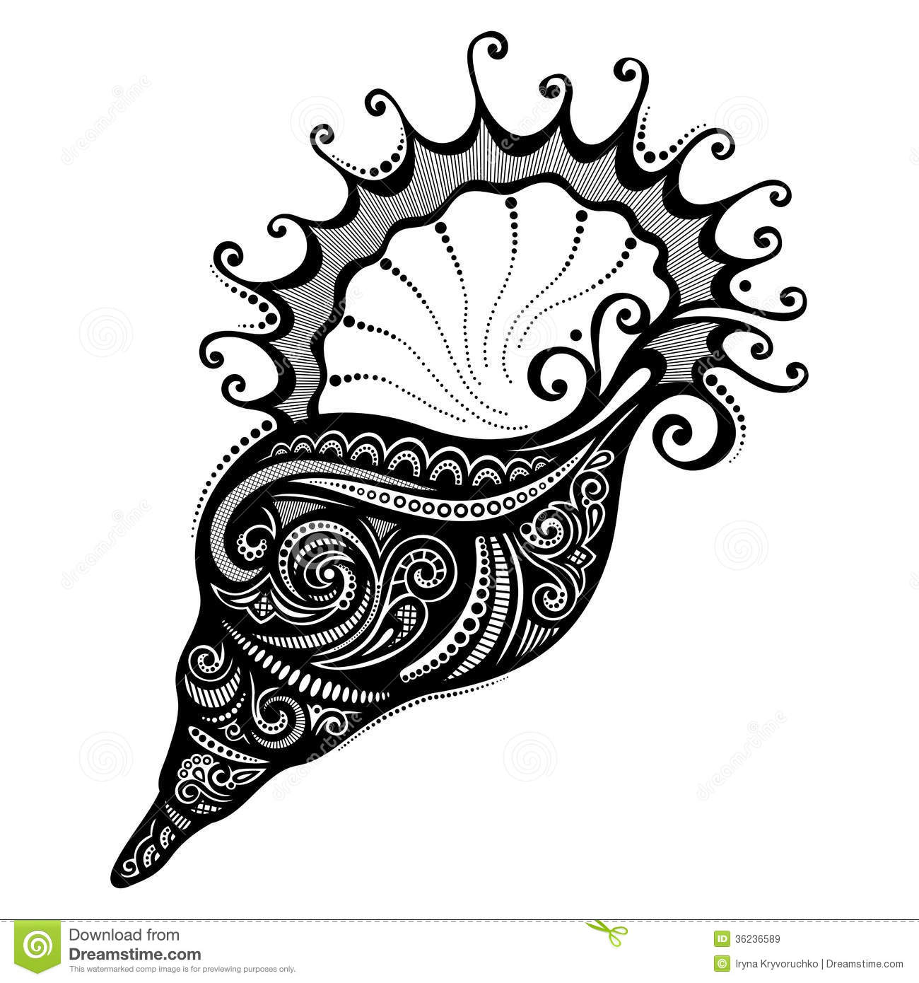Vector Abstract Sea Shell Royalty Free Stock Images