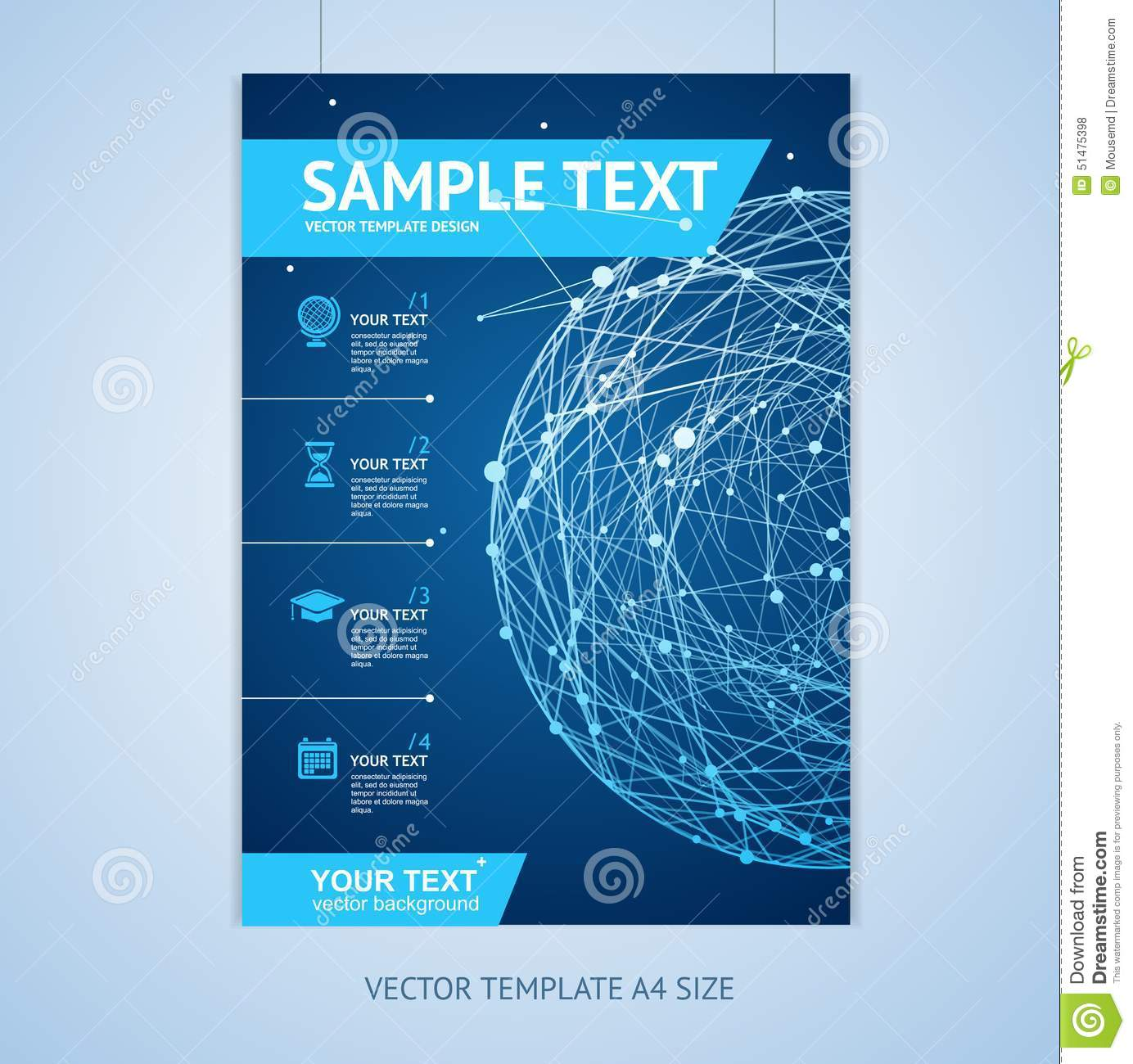 electronic brochure templates - vector abstract sphere brochure design templates stock
