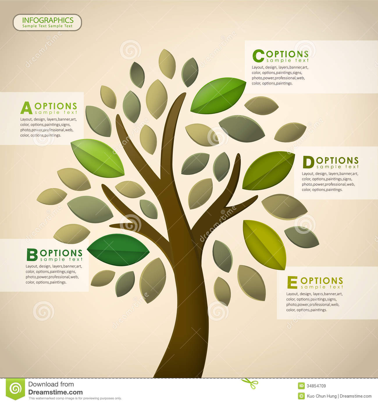 Vector Abstract Tree Infographics Royalty Free Stock Images - Image ...
