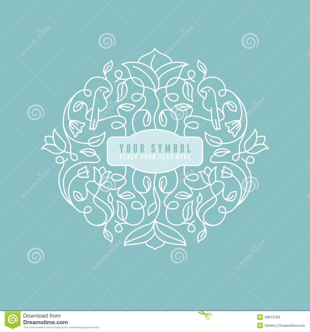 vector abstract wedding monogram stock vector