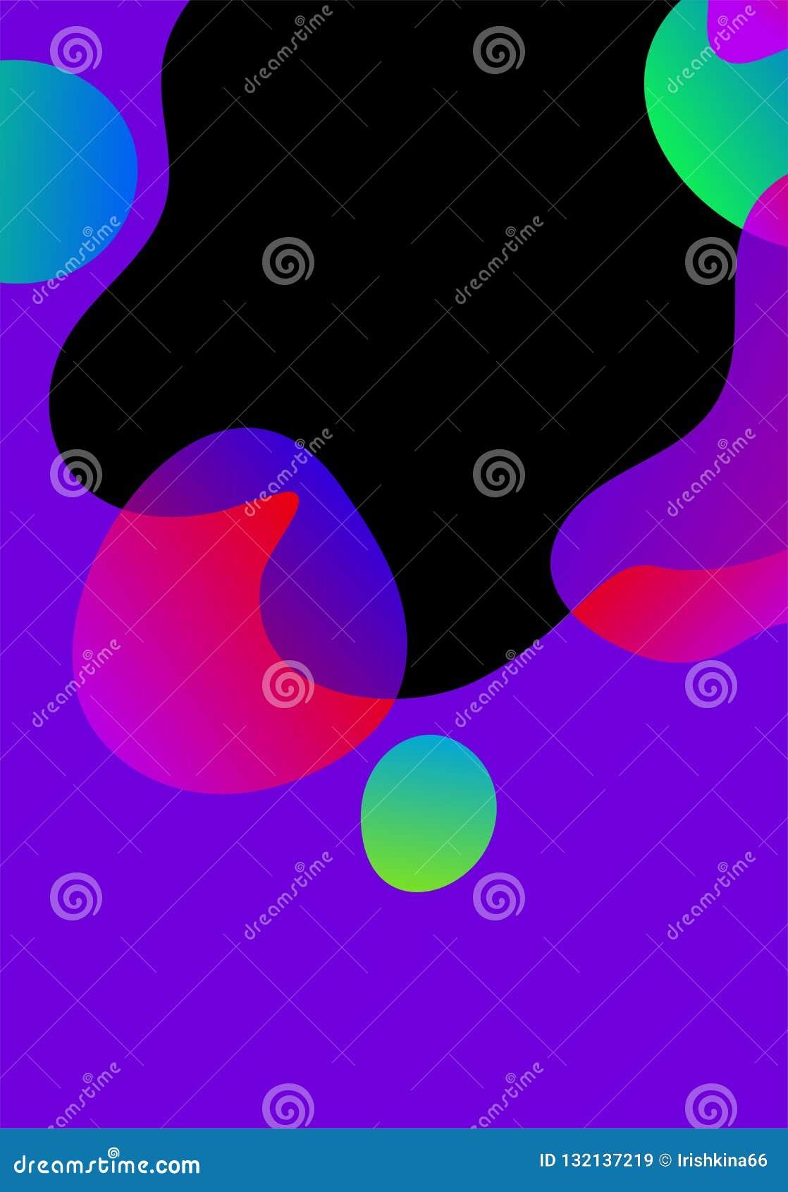 Vector abstracte futuristische kaart, de heldere achtergrond van gradiënt vloeibare vormen Geometrische golvende vloeibare elemen