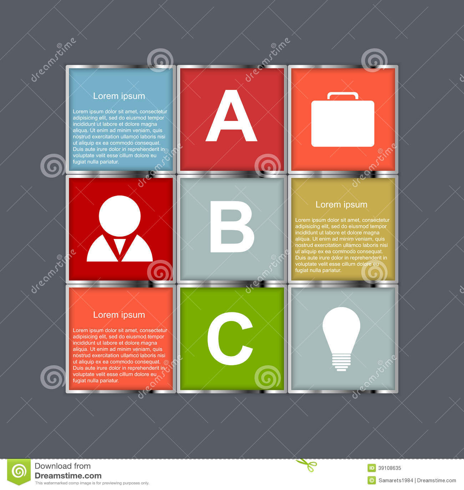 Vector Abstracte infographic.