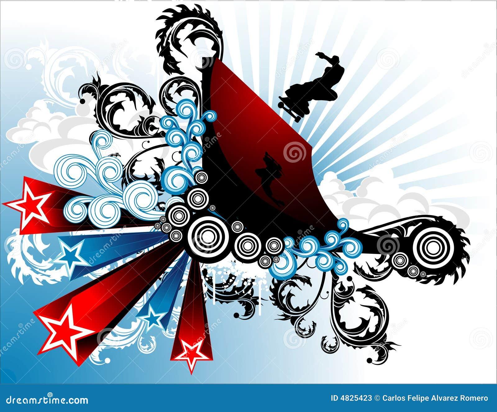 Vector abstracto del patinador