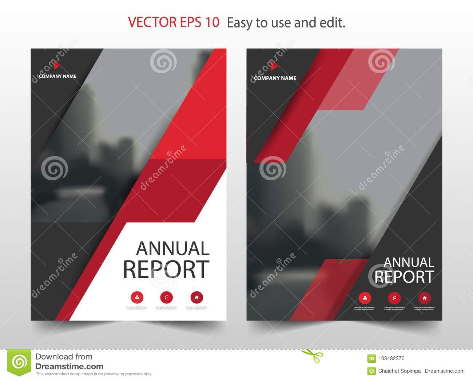 Vector abstracto rojo de la plantilla del diseño del informe anual del folleto del triángulo Cartel infographic de la revista de