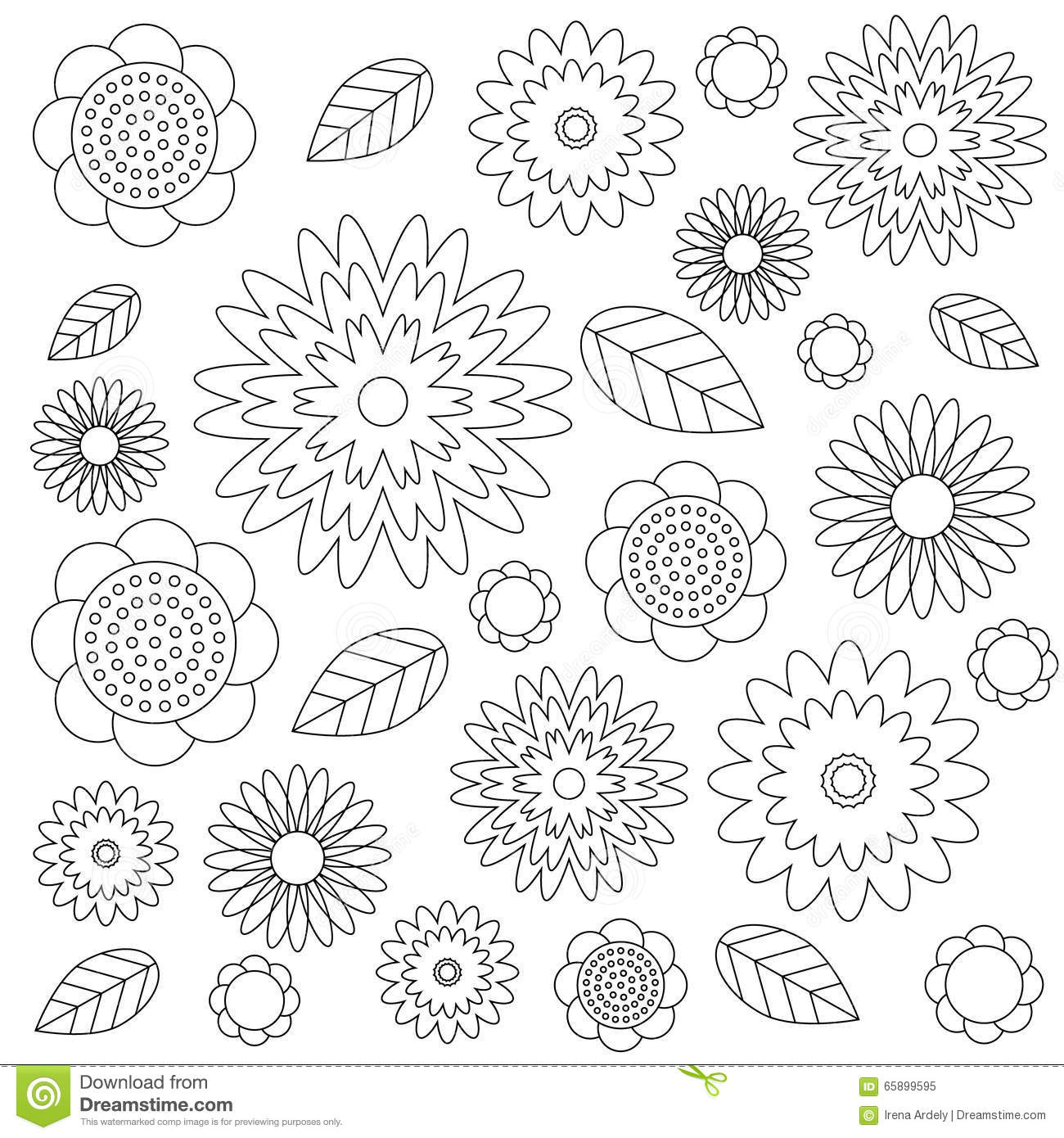 Royalty Free Vector Download Adult Coloring Book Floral Pattern