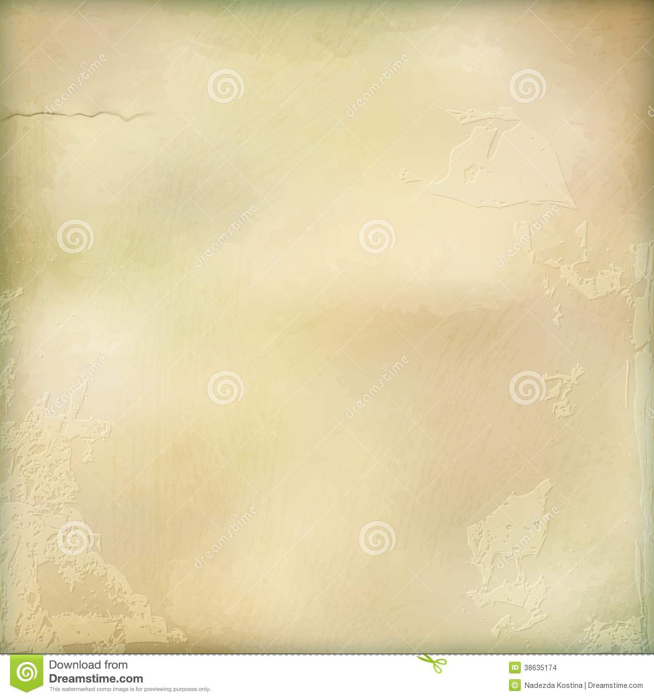 Vector aged plaster wall abstract background