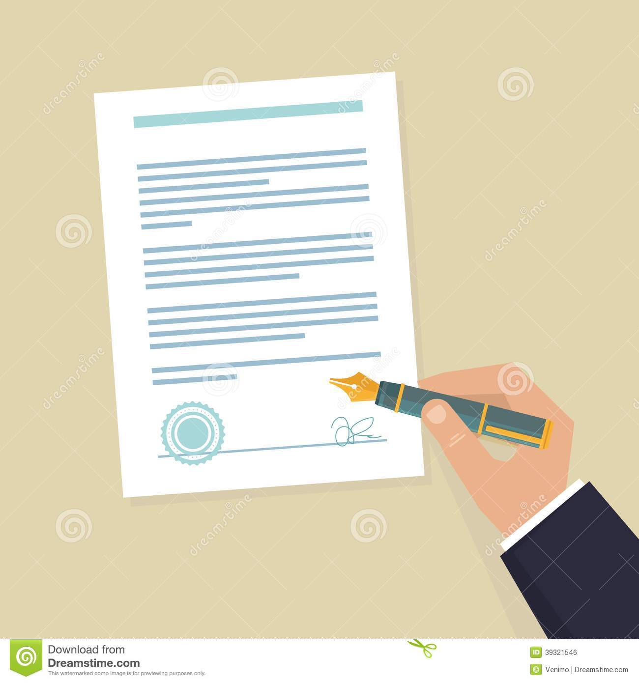 Vector Agreement Icon Stock Vector Image
