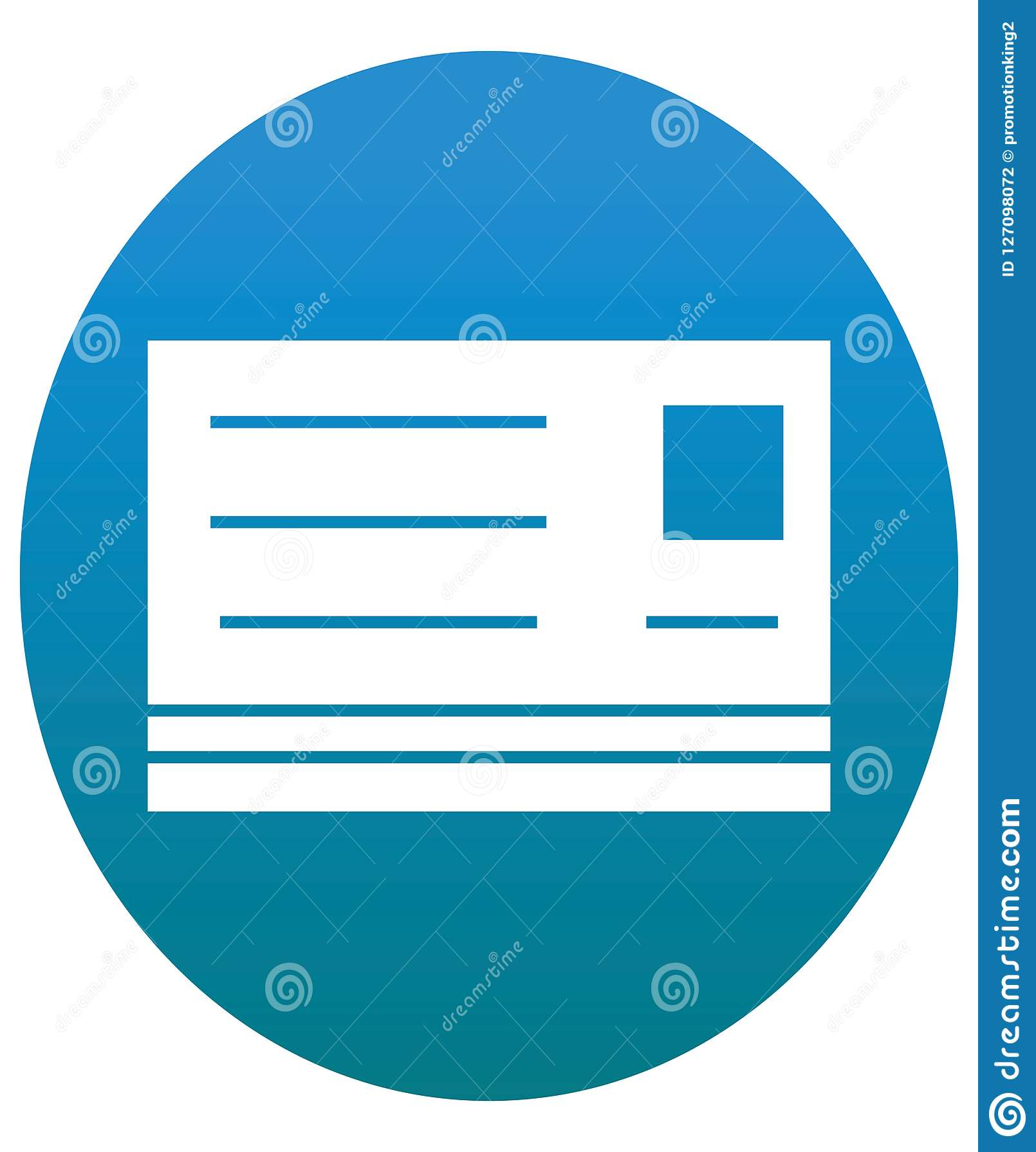 Vector aislado de la tarjeta de crédito con la línea y el icono del terraplén