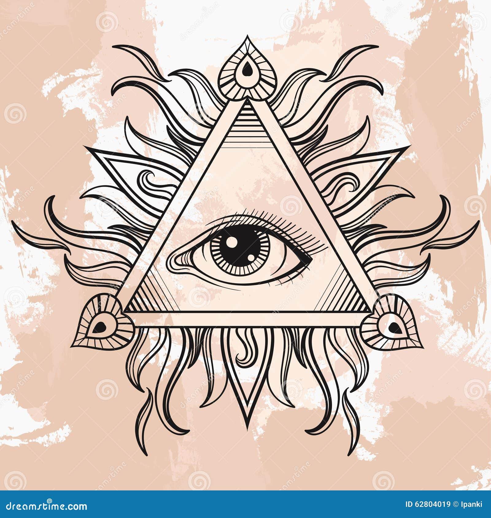 Эскизы для тату глаз в треугольнике
