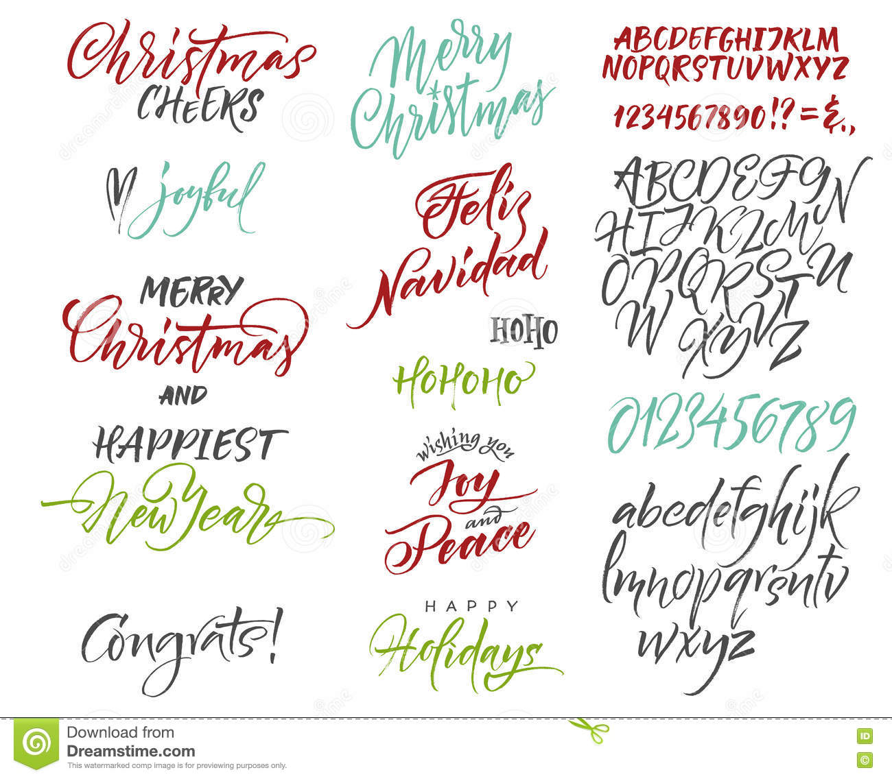 Vector alphabet christmas and new year congrats season greetings download vector alphabet christmas and new year congrats season greetings stock illustration m4hsunfo