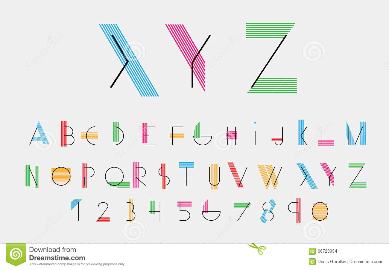 Vector alphabetic fonts  stock vector  Illustration of
