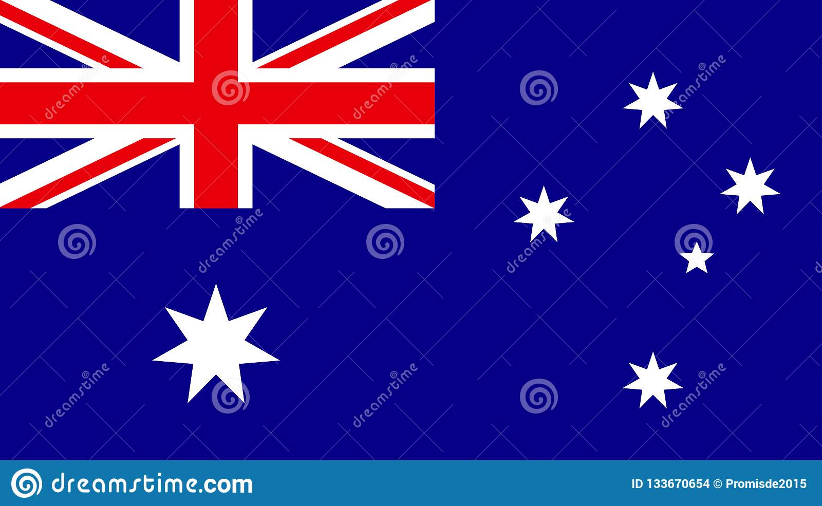 Vector of amazing Australia flag. Nationals flags of world count