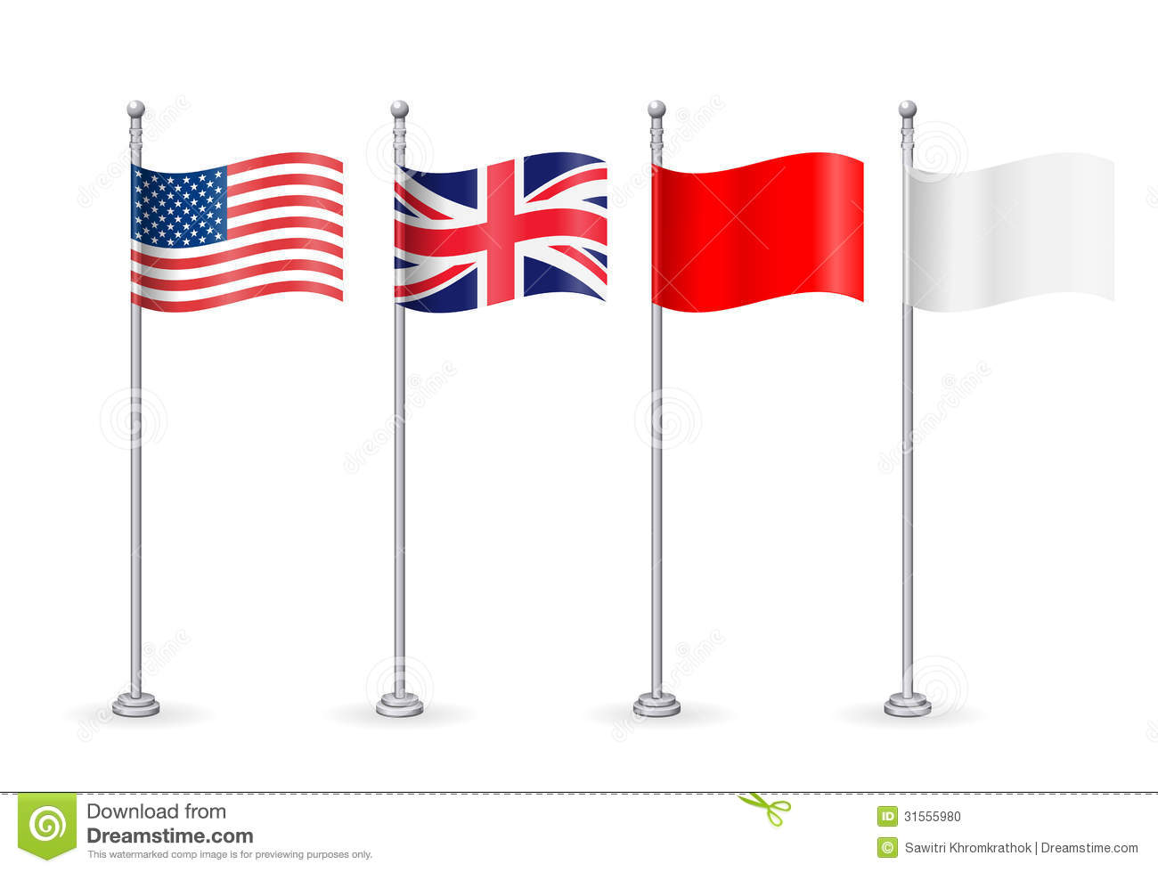 vector american with england flag stock photo image 31555980