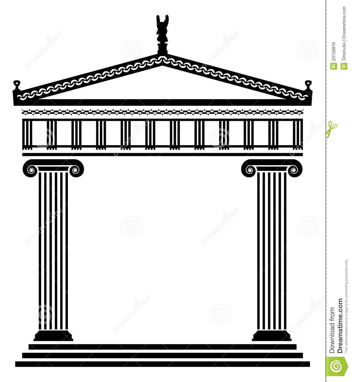 vector ancient greek architecture royalty free stock image image