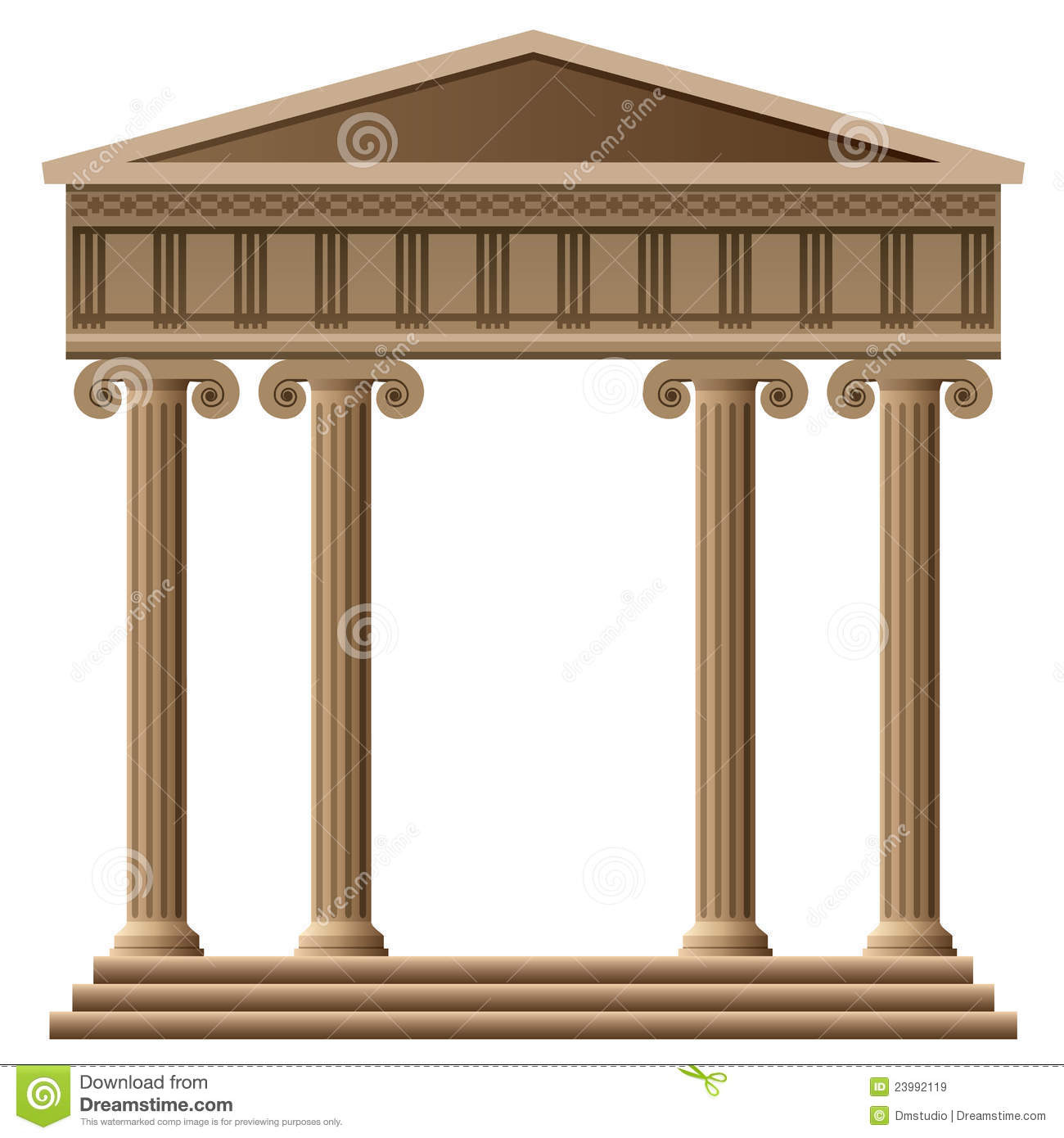 vector ancient greek architecture stock vector illustration of