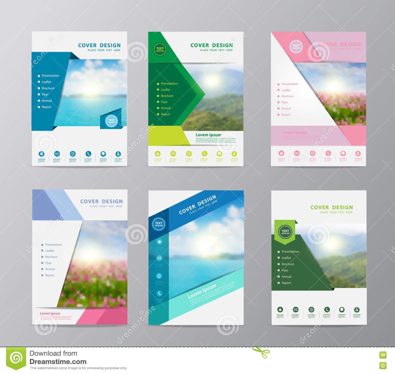 background for brochure design - vector annual report brochure flyer design nature