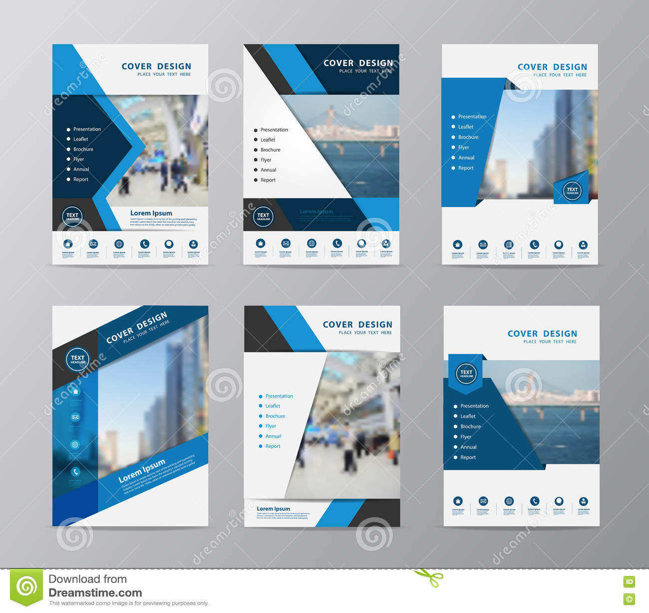vector annual report brochure flyer design template vector