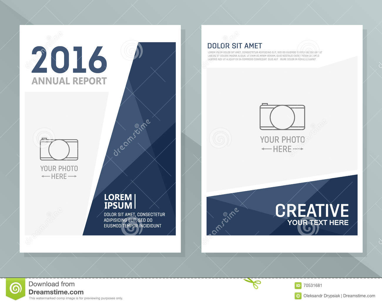 Vector Annual Report Design Templates. Business Brochure, Flyer ...