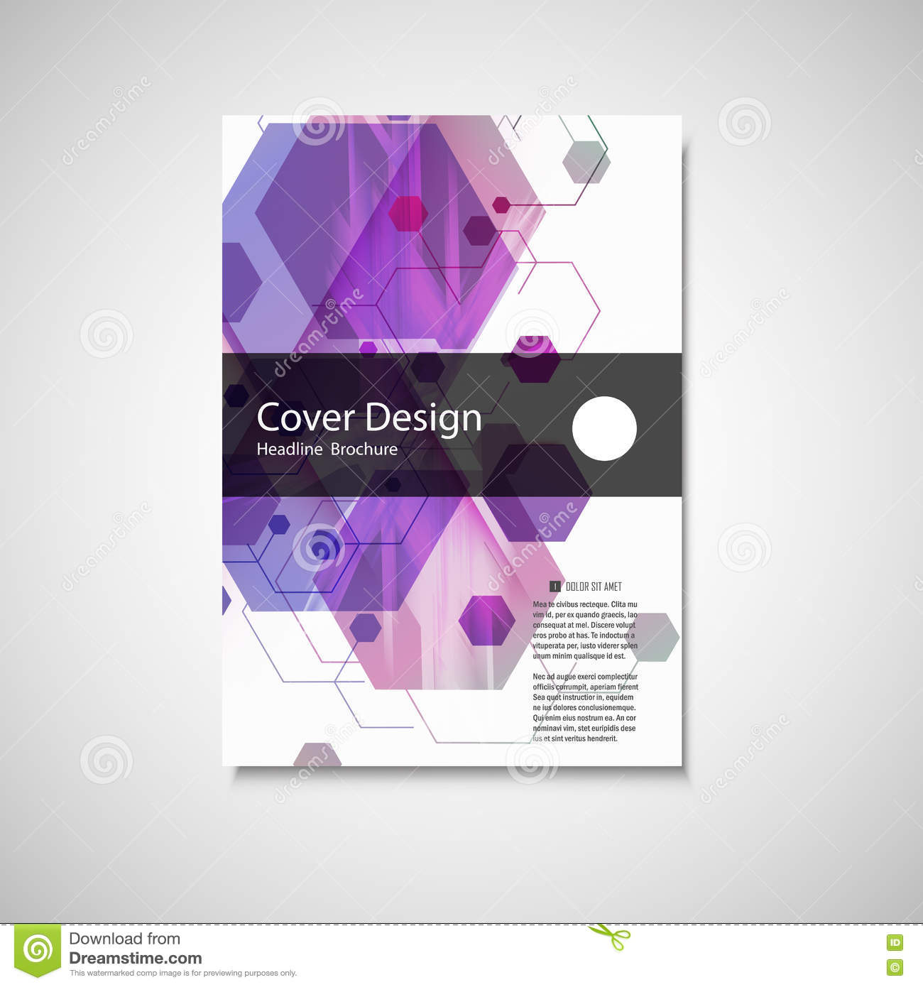 Creative Book Cover Design Eps ~ Vector annual report leaflet brochure flyer template