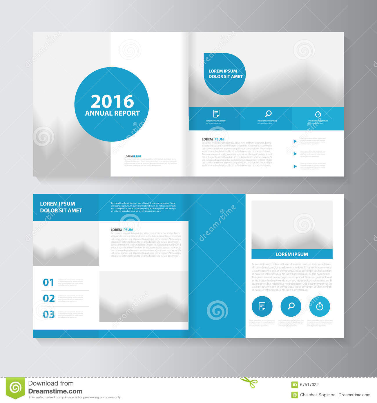 vector annual report leaflet brochure flyer template design book