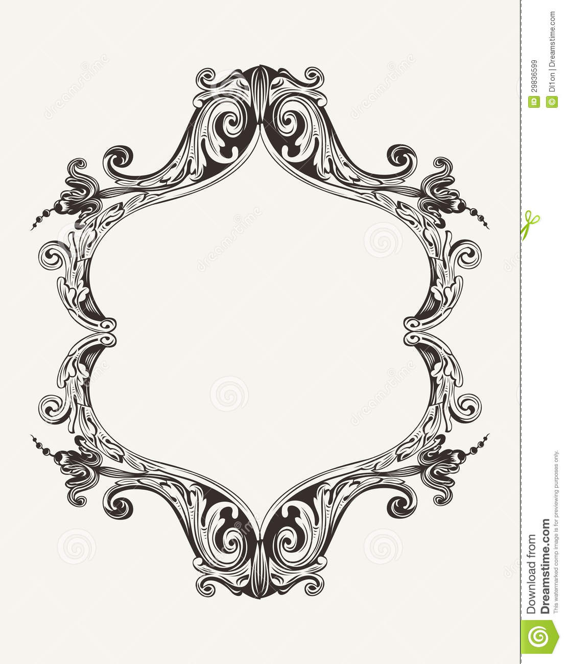 Vector Antique Vintage Royal Frame Antique Picture Frames Vector