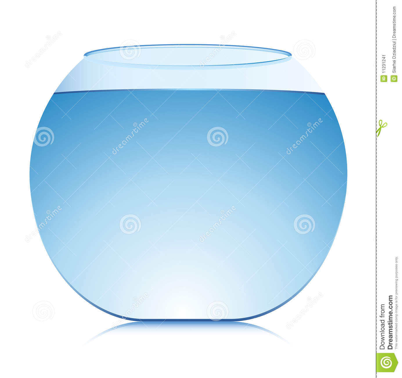 Vector Aquarium With Shadow Stock Image Image 11231241