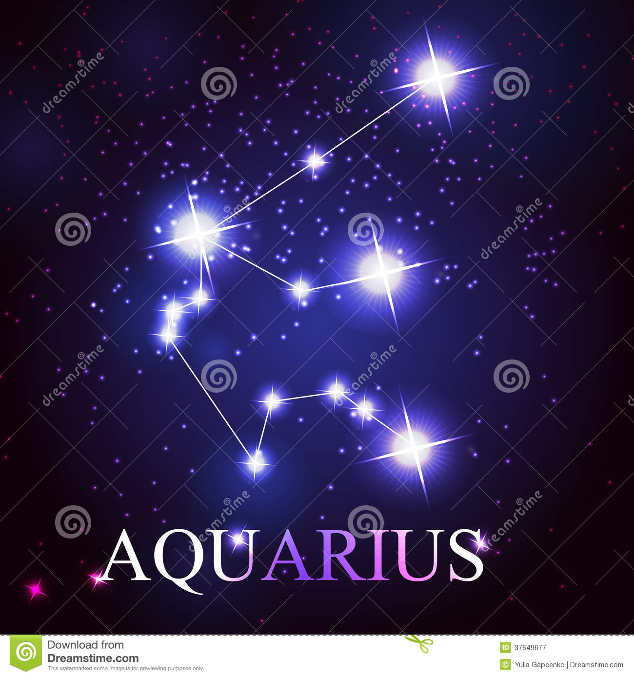 vector of the aquarius zodiac sign royalty free stock