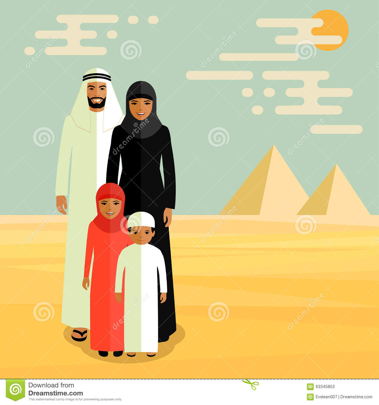 vector arab family stock vector image 63345853 african american christian family clipart african american family clipart images