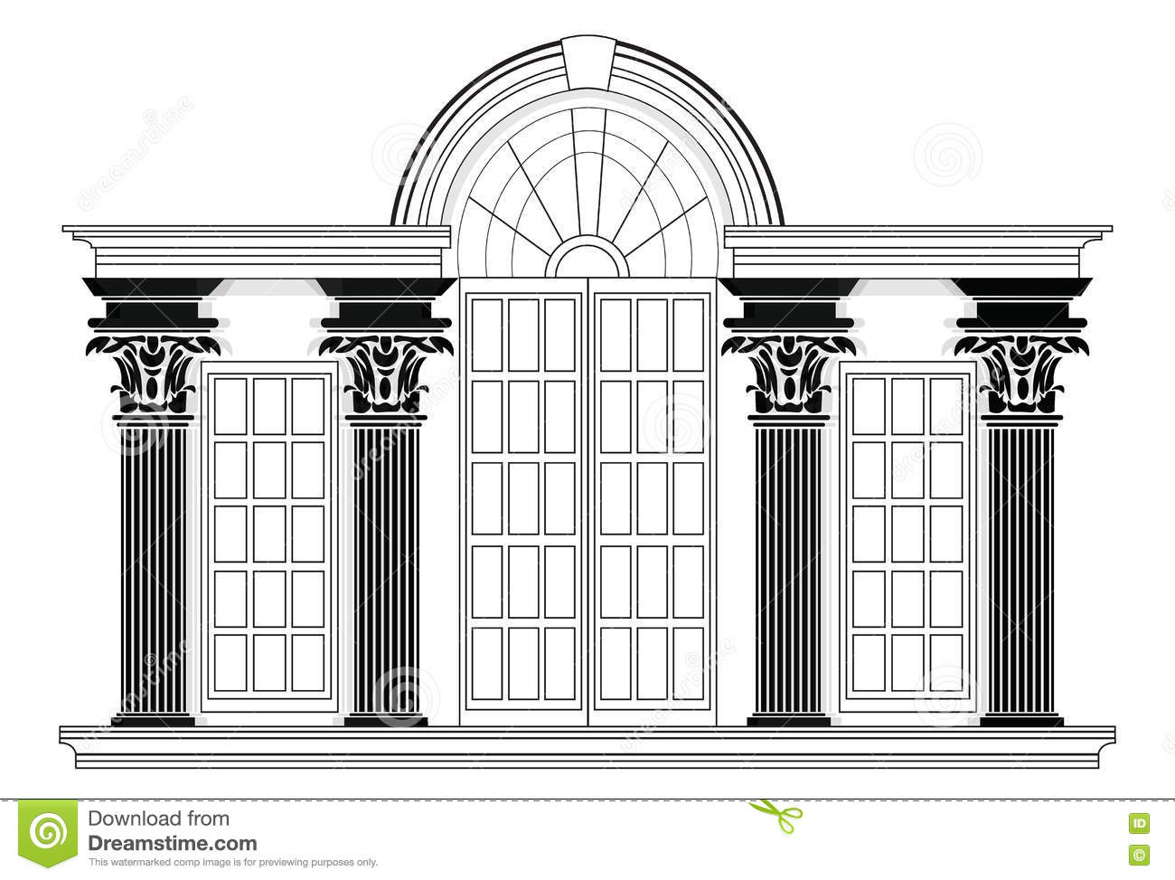 Church blueprint stock illustrations 65 church blueprint stock wire frame blueprint drawing of classic building vector architectural template background malvernweather Gallery