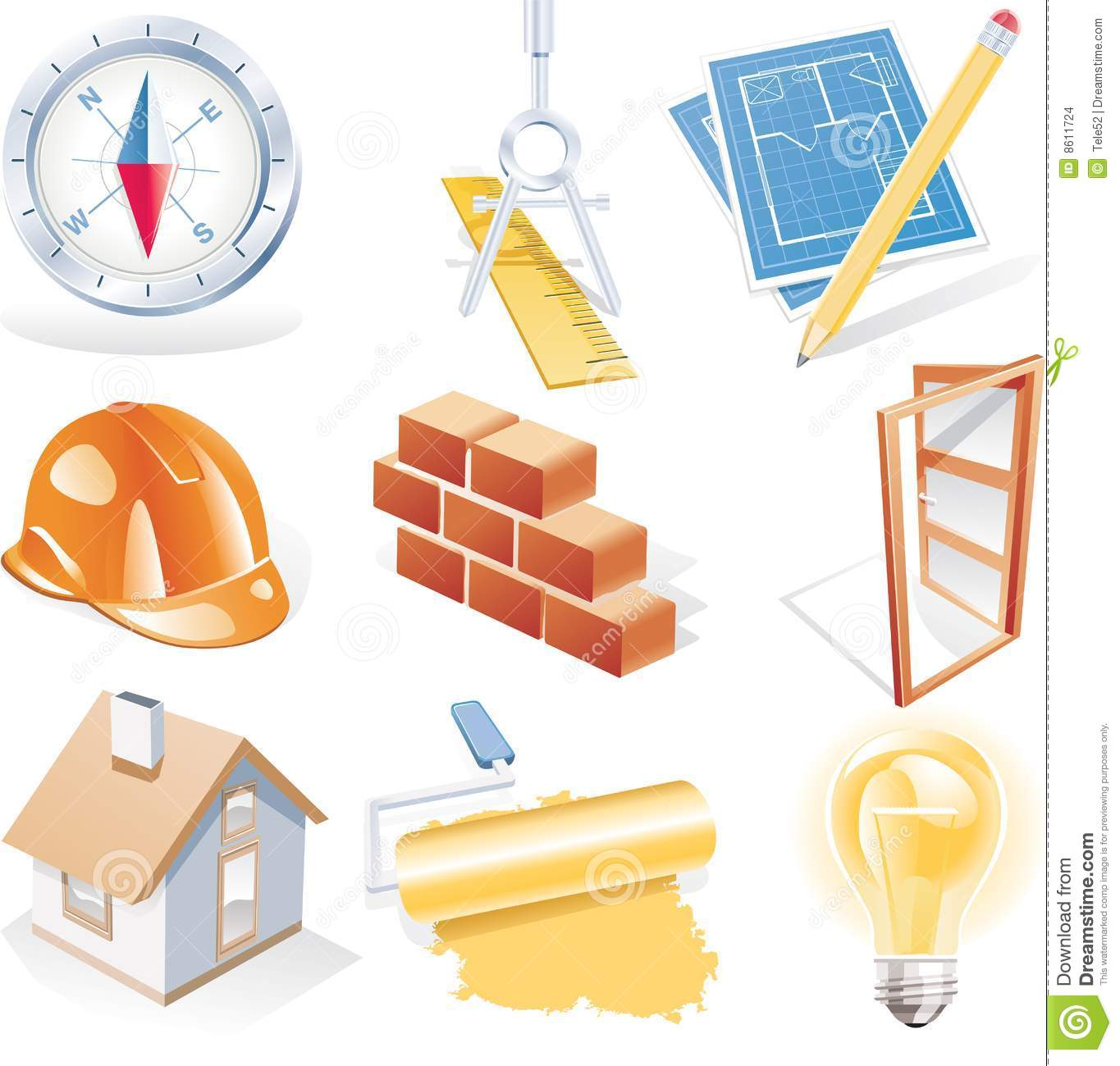 Vector architecture detailed icon set stock vector for Architecture icon