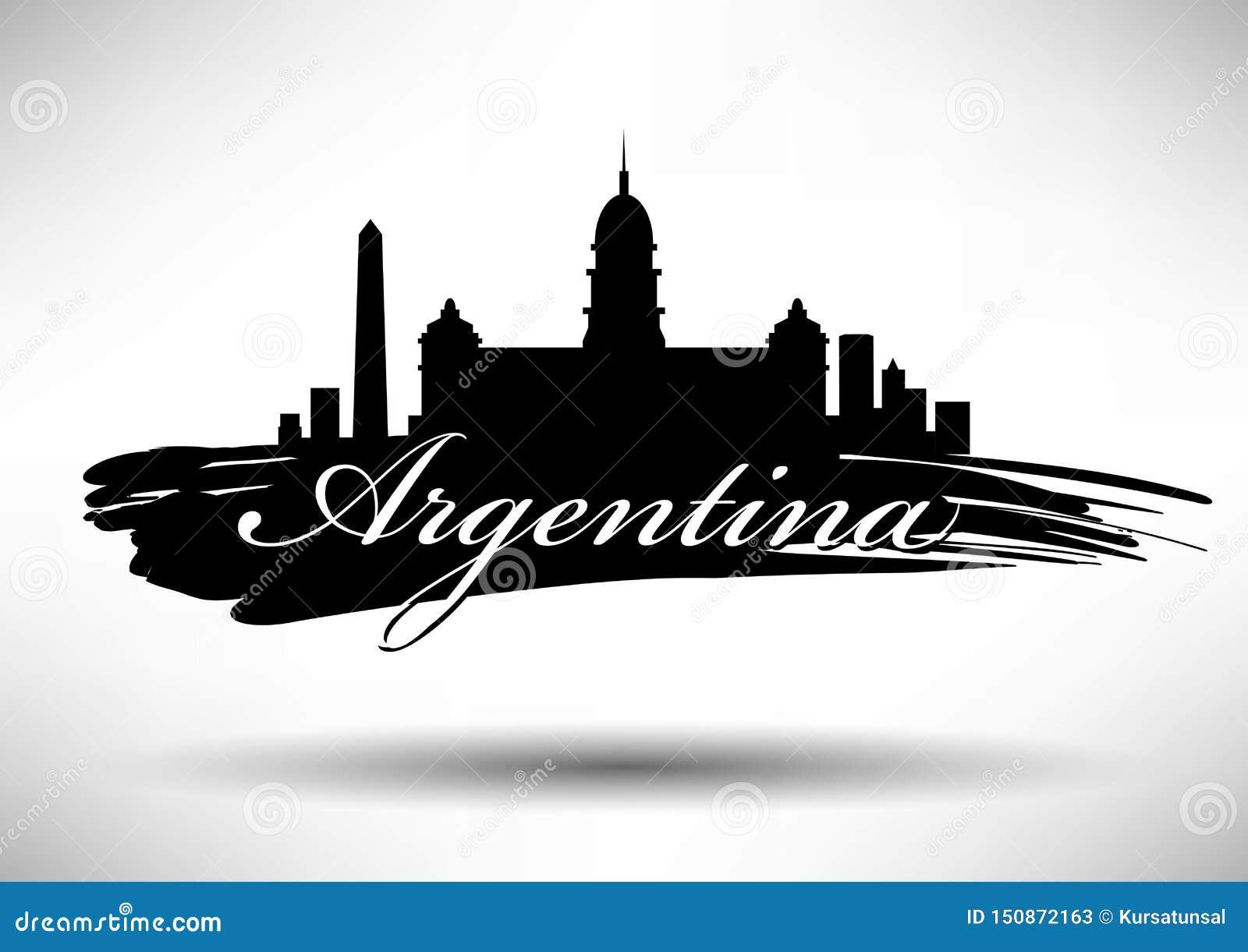 Vector Argentina Skyline Design