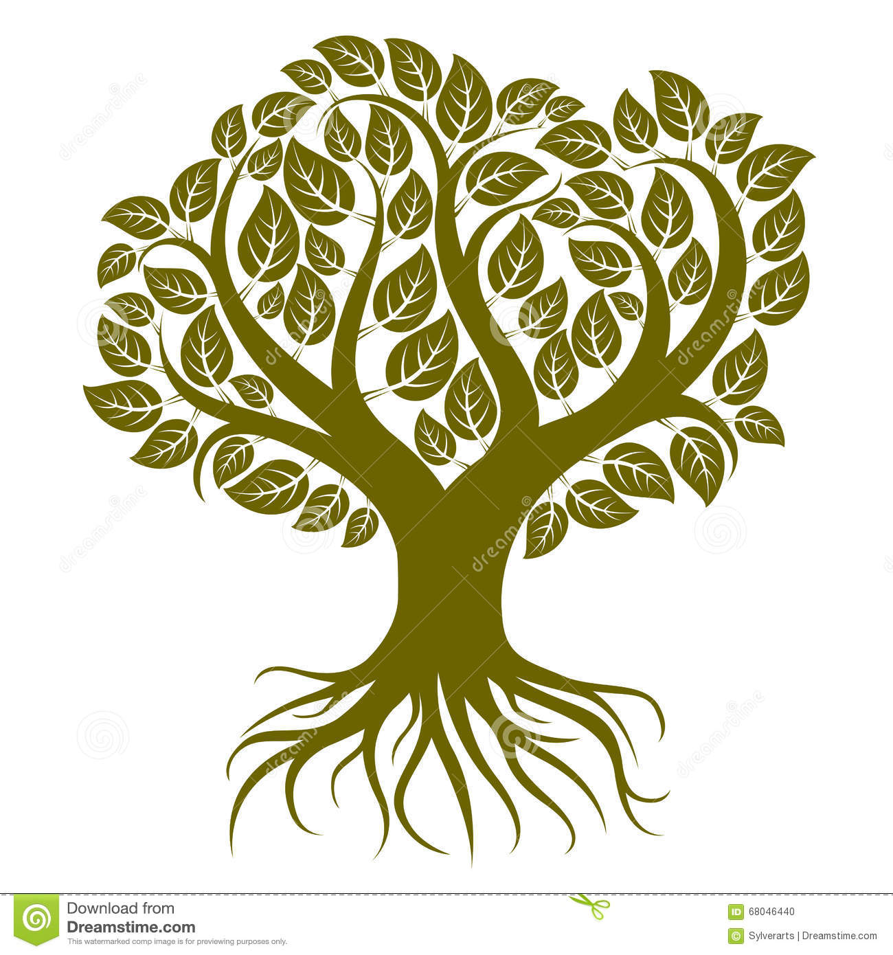 Vector art illustration of branchy tree with strong roots tree vector art illustration of branchy tree with strong roots tree buycottarizona