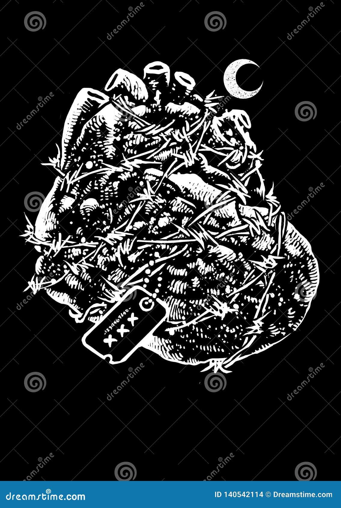 Vector Art Illustration de los héroes del corazón