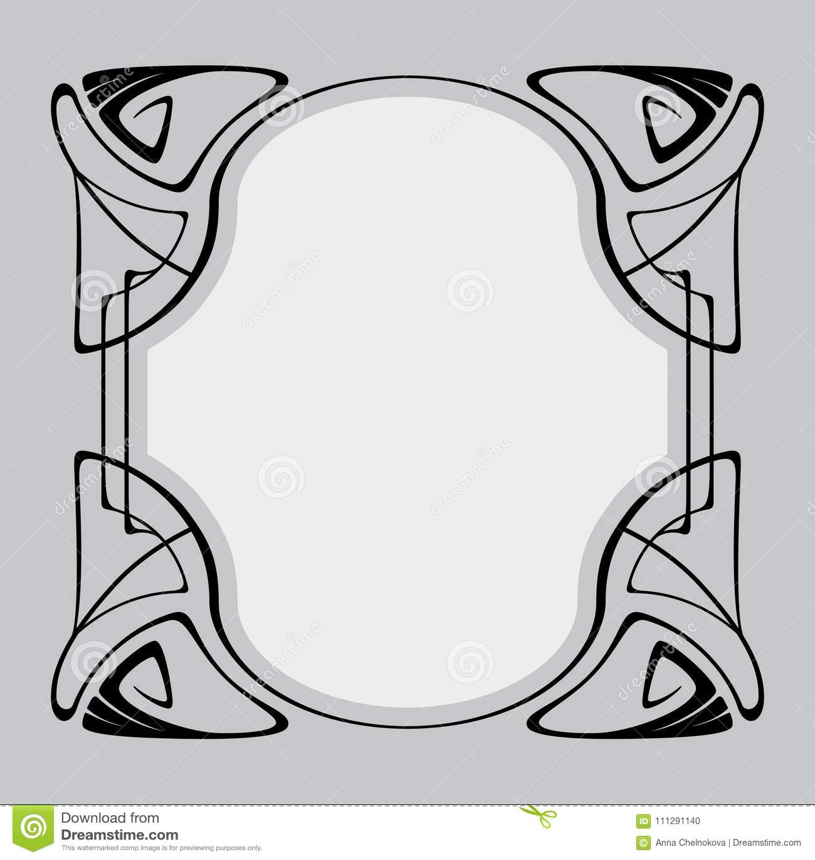 Vector art nouveau frame stock vector illustration of holiday royalty free vector stopboris Choice Image