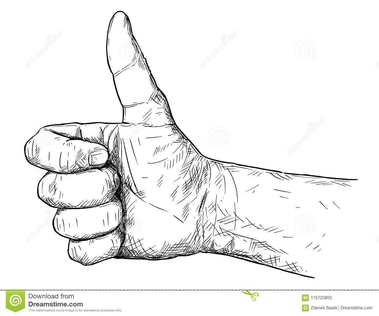 Artistic thumbs up
