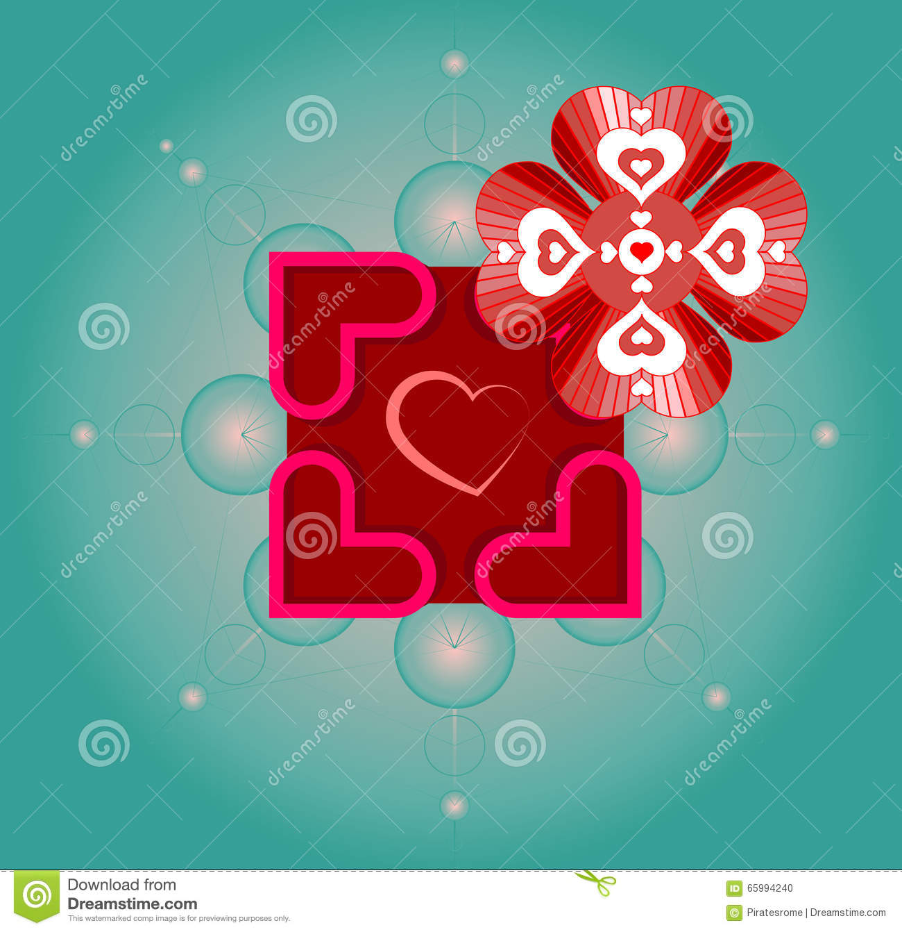 Vector Artwork For Valentine S Day With Use Of Sacred Geometry