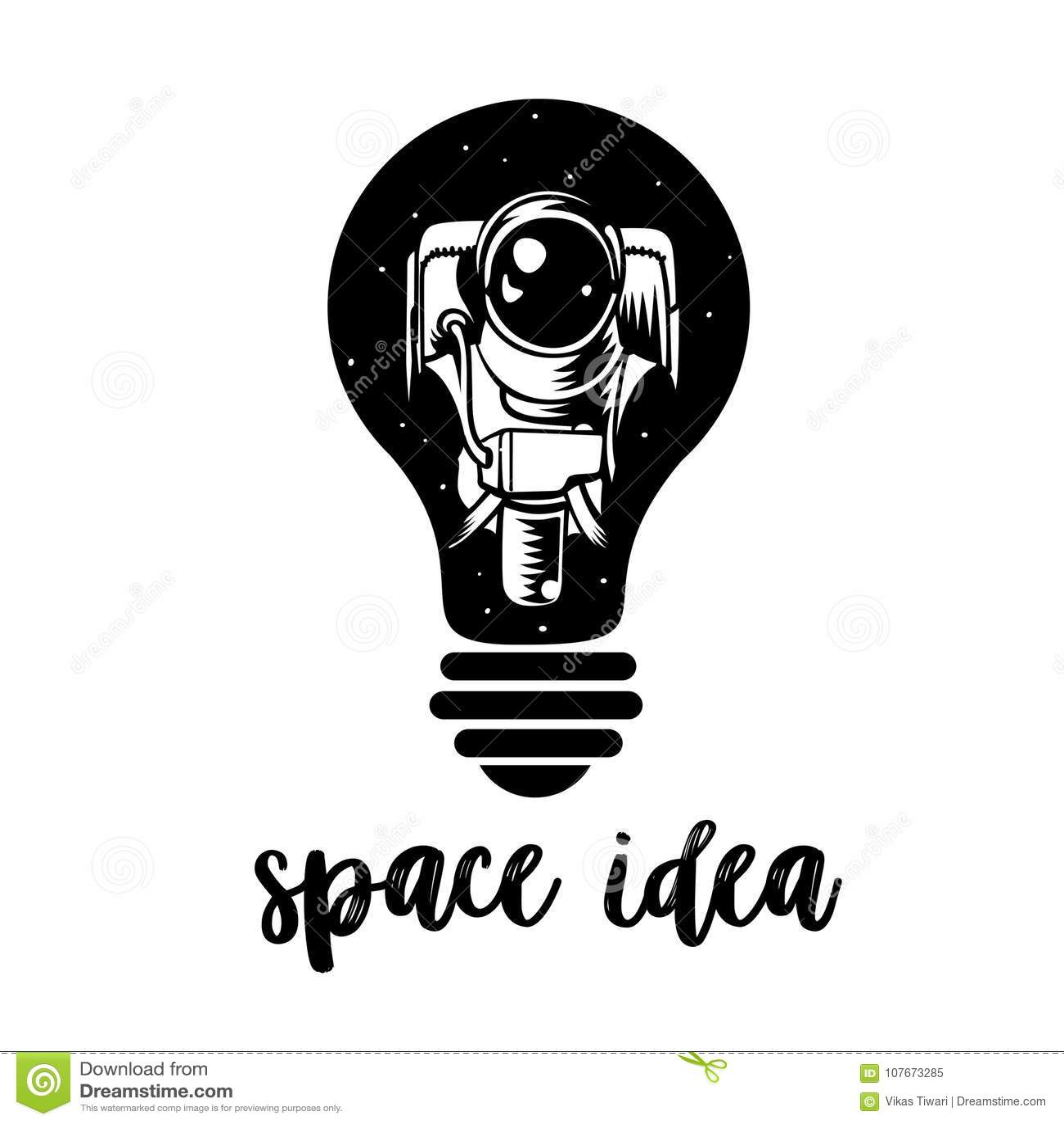 Astronaut in a light bulb symbol of creative thinking new ideas astronaut in a light bulb symbol of creative thinking new ideas biocorpaavc