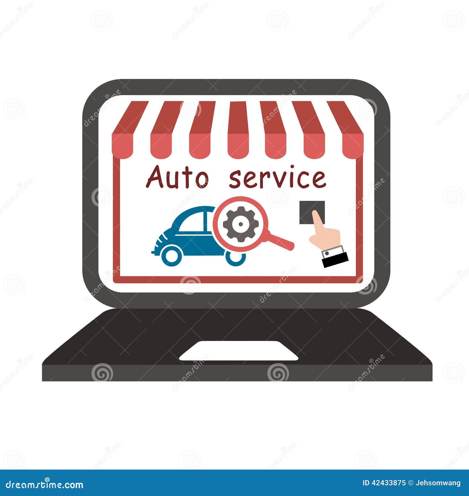 Vector auto del servicio