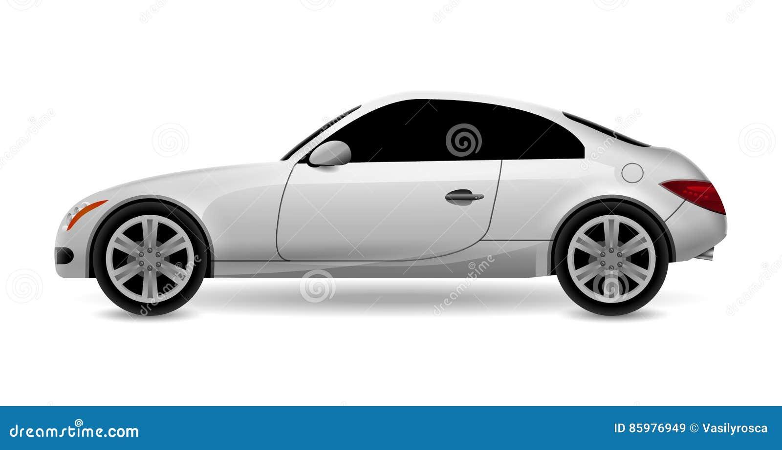 Vector Automobile Coupe Profile Side View. Luxury Modern Sedan ...