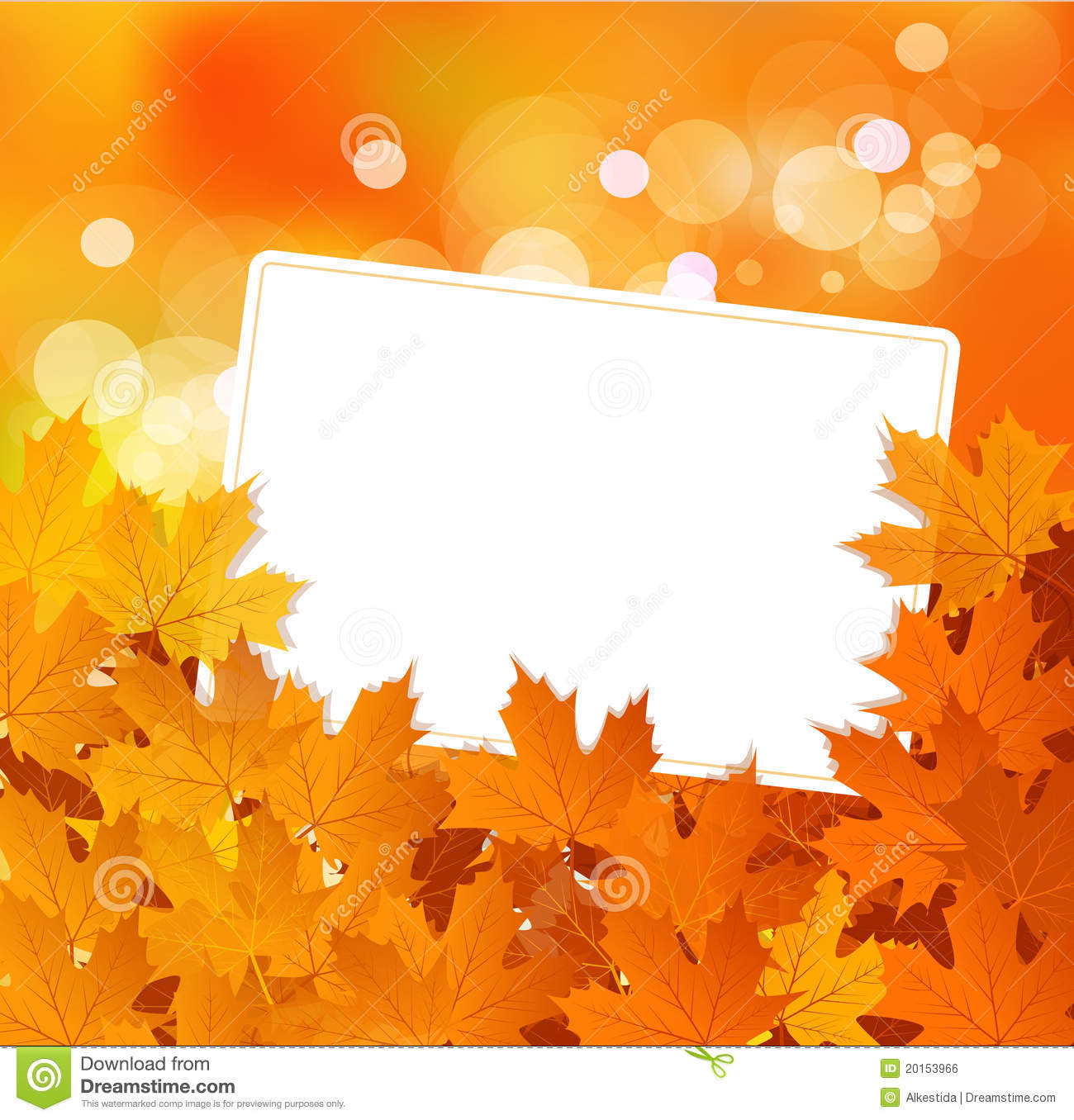 Vector autumn background with greeting card stock vector vector autumn background with greeting card m4hsunfo Images