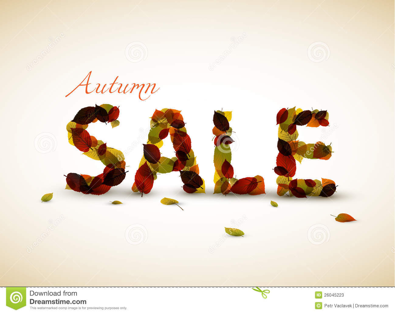 Vector autumn sale poster stock photos image 26045223 for Photographs for sale online
