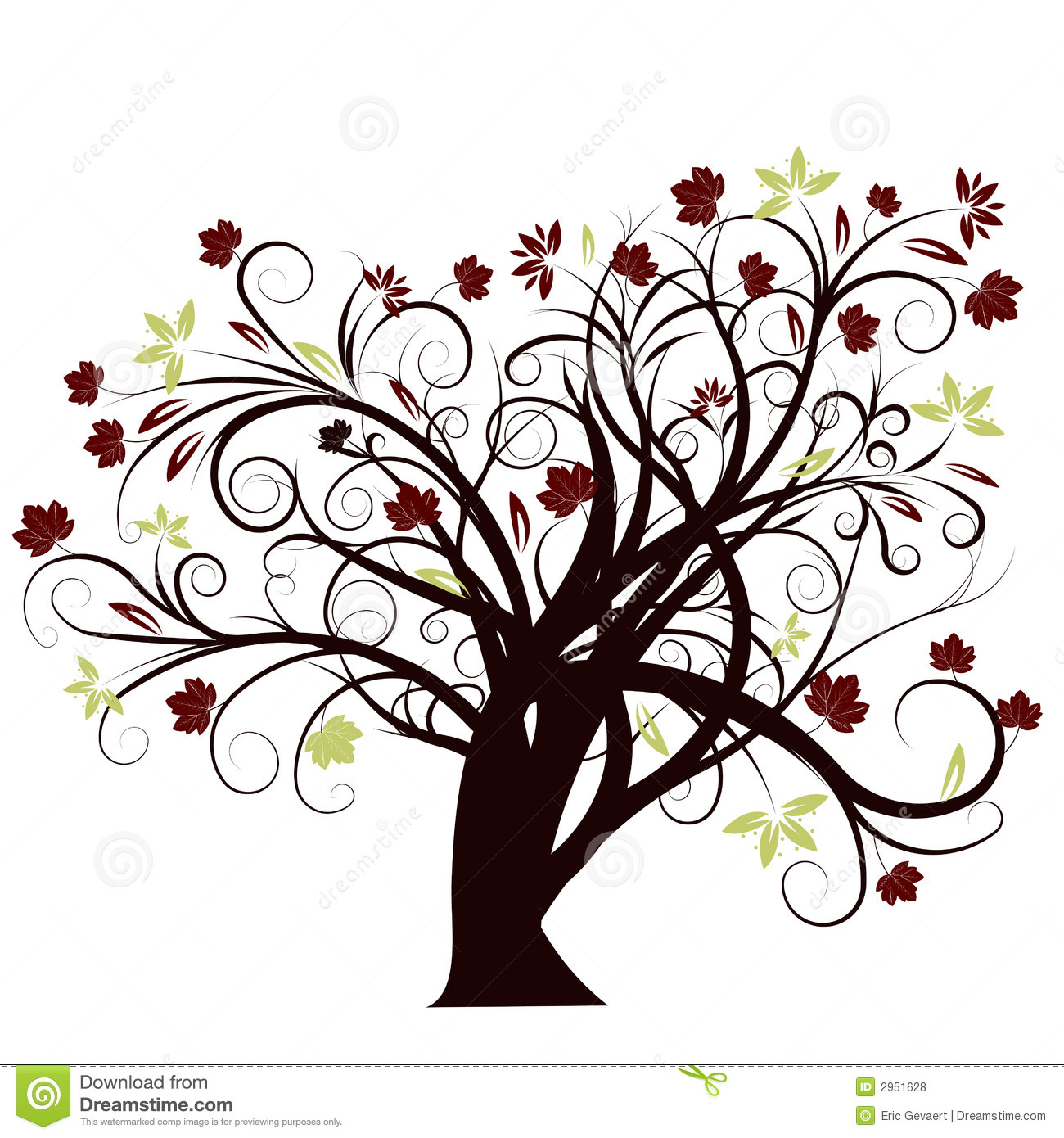 vector autumn tree design