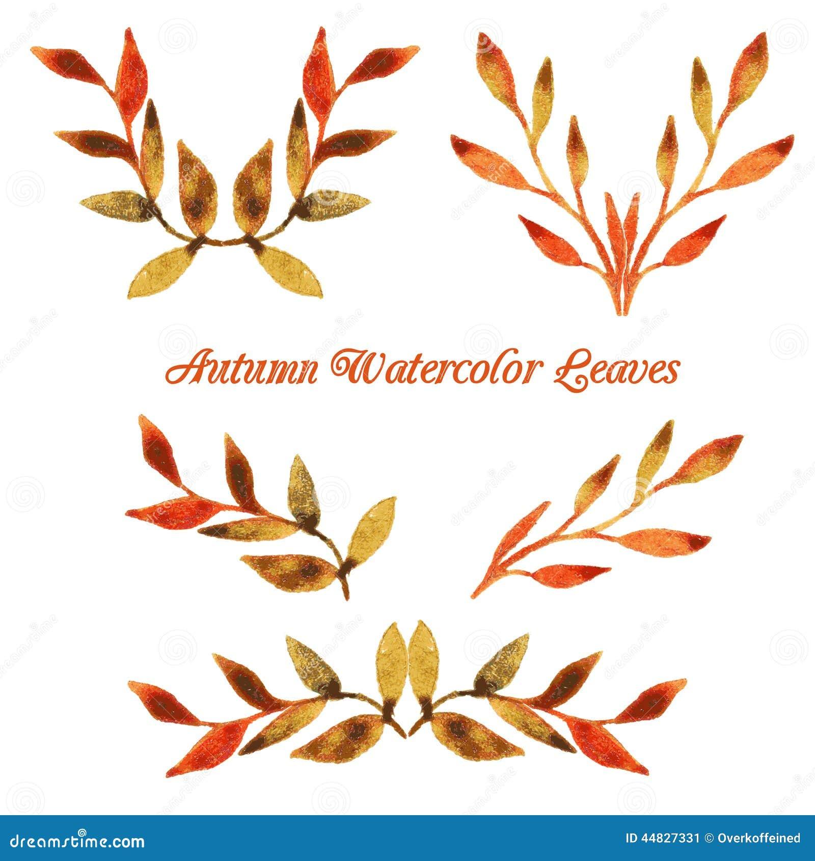 Vector autumn watercolor leaf pattern template stock vector download vector autumn watercolor leaf pattern template stock vector illustration of autumn bright maxwellsz