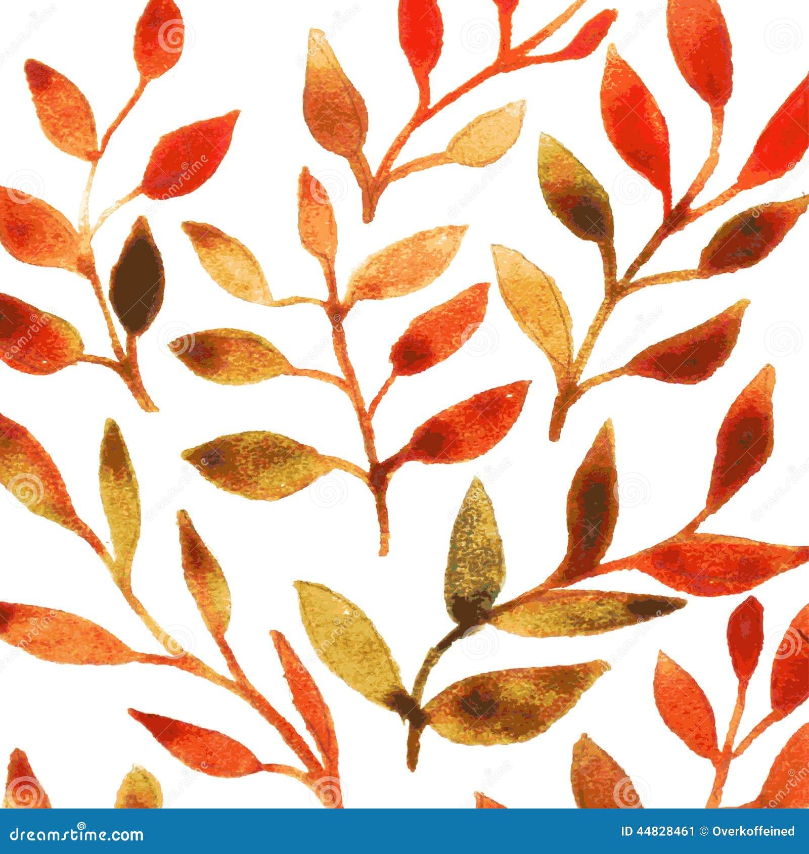 Fall Leaf Watercolor Patterns Patterns Kid