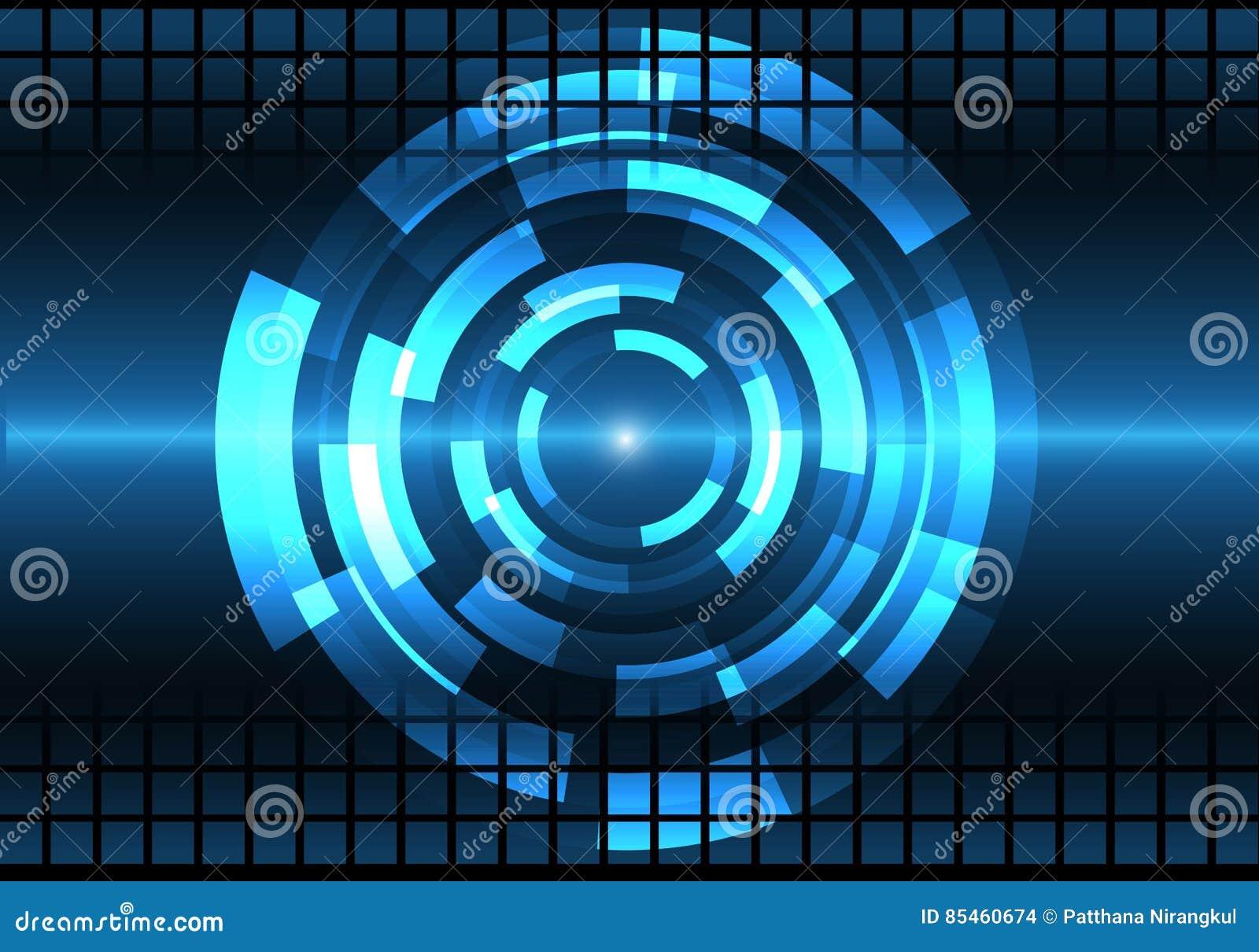 Fondo Azul Metálico Abstracto De Diseño Moderno De La: Vector Azul Abstracto Del Fondo De La Tecnología De Diseño