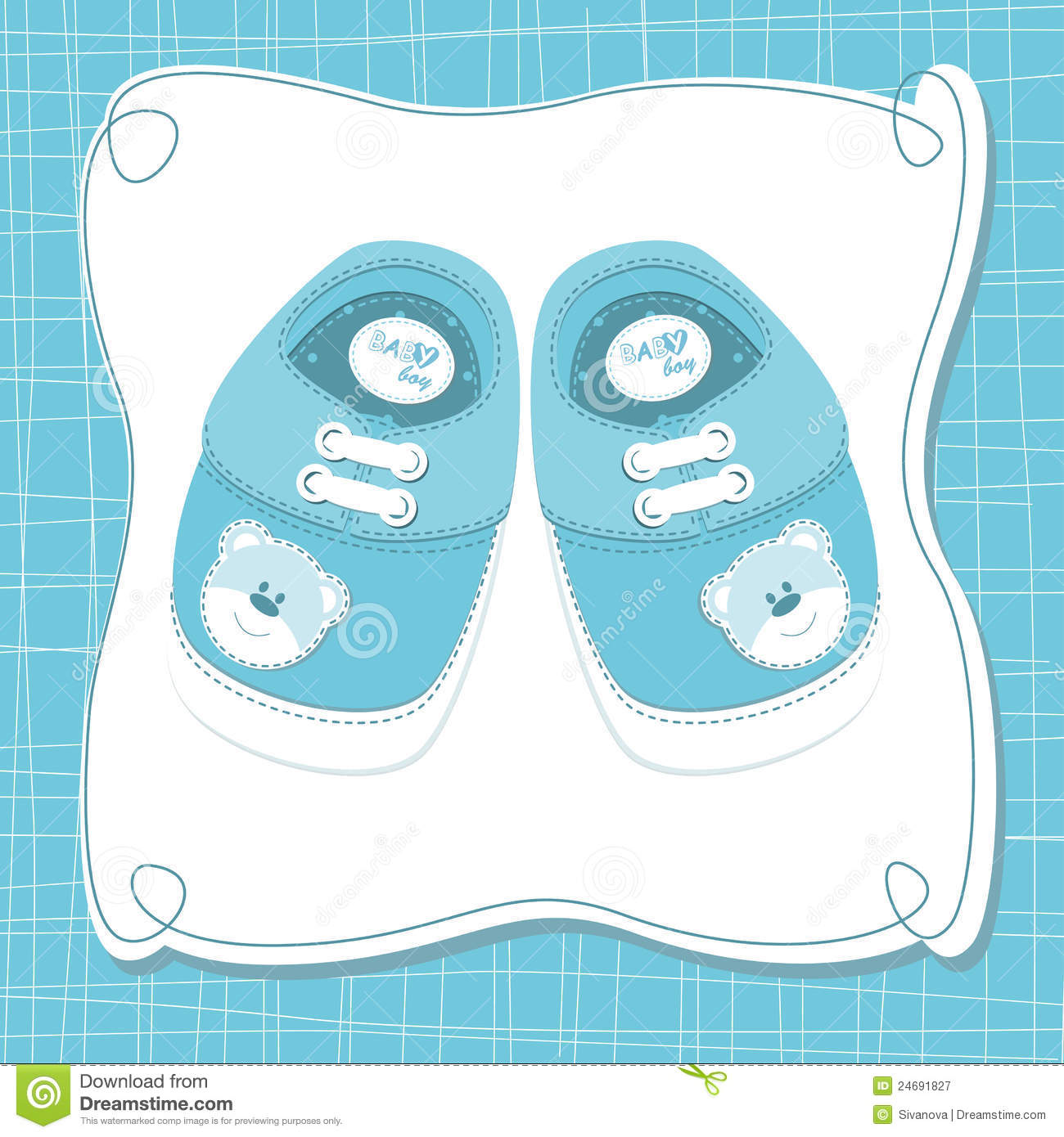 Vector Baby Boy Card Royalty Free Stock Photography - Image: 24691827