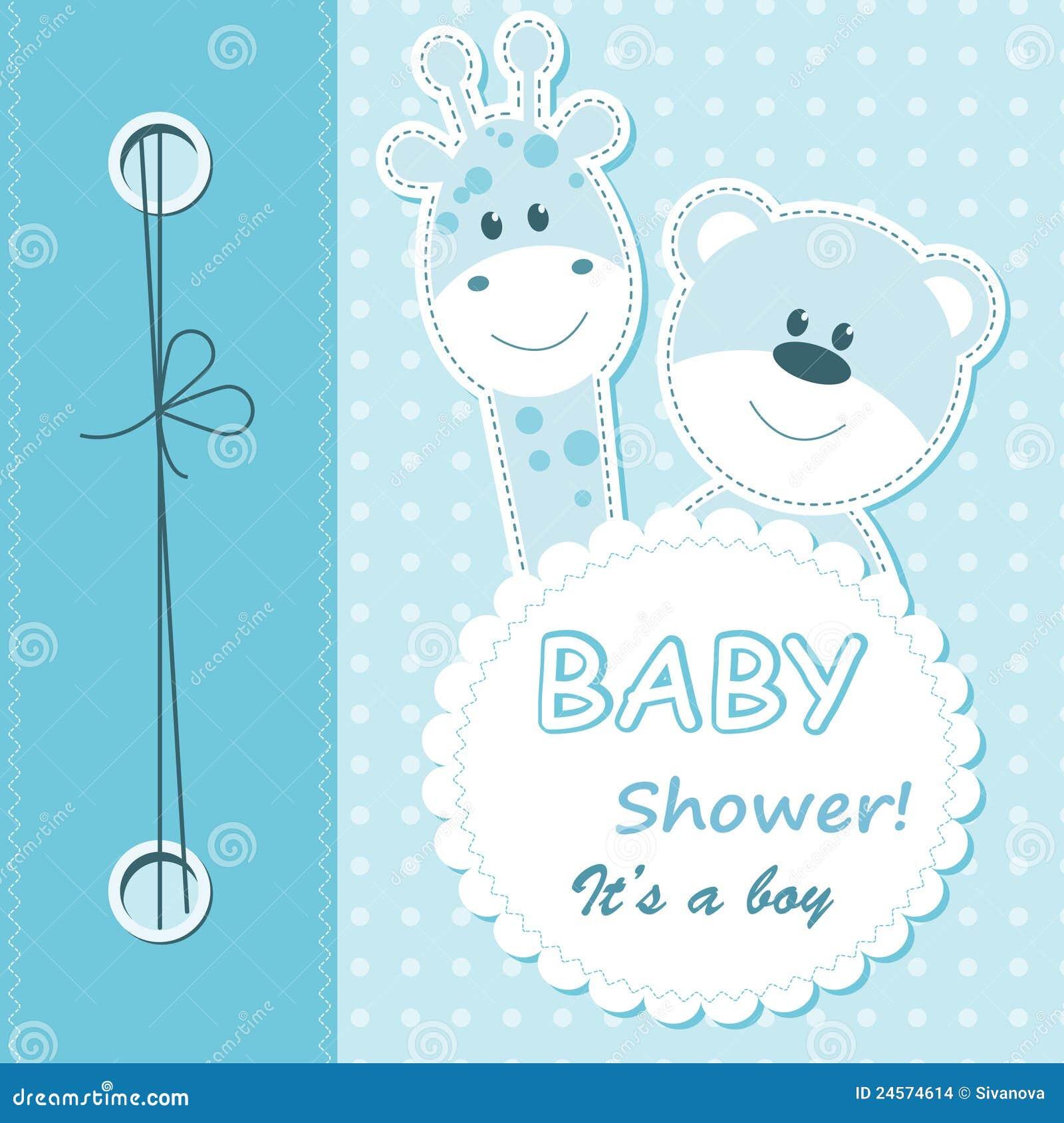 Vector Baby Boy Scrapbook Card Stock Images - Image: 24574614