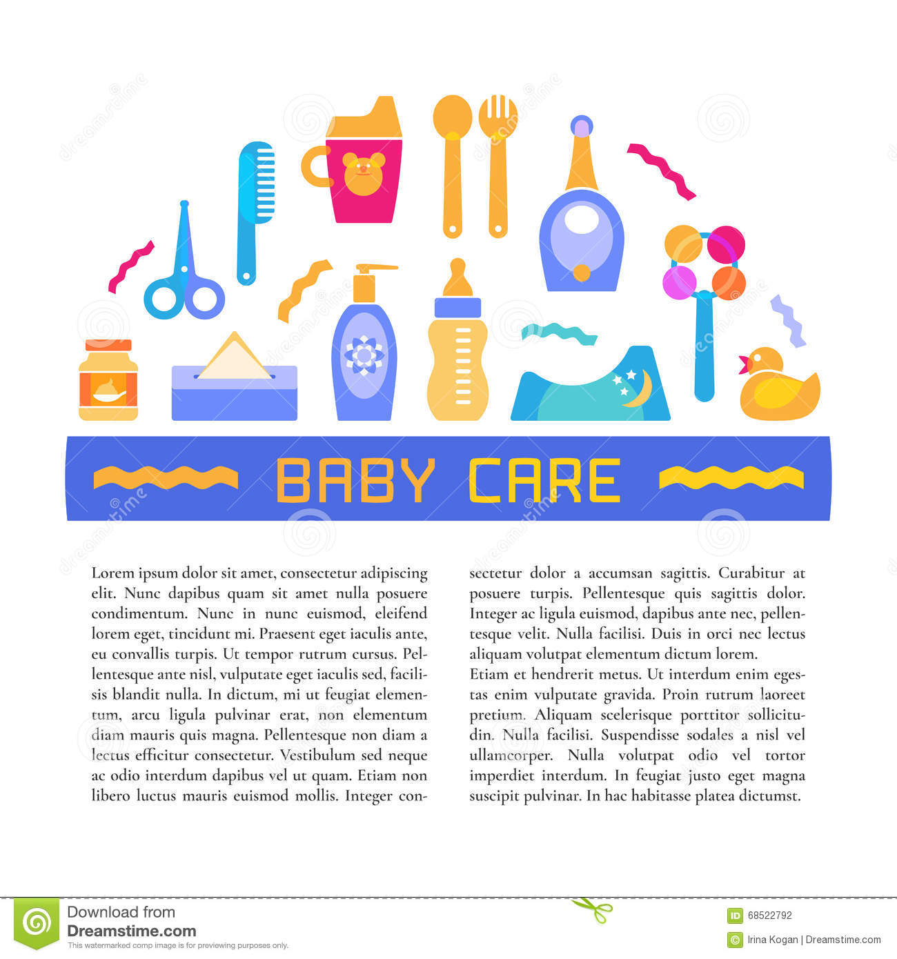 Set of baby products vector illustration cartoondealer for Products to design