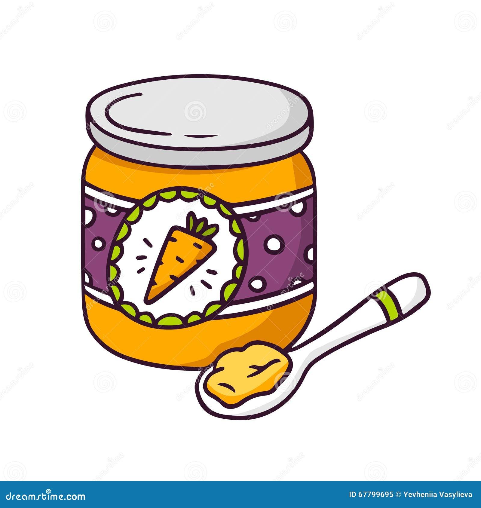 Baby Food Clip Art baby food jar stock illustrations, vectors ...